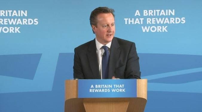 Britain rewards work - David Cameron