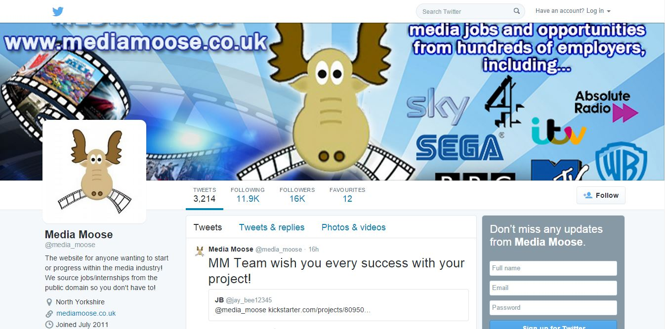 rip off alert media jobs board asks graduates to pay just to view media moose twitter page