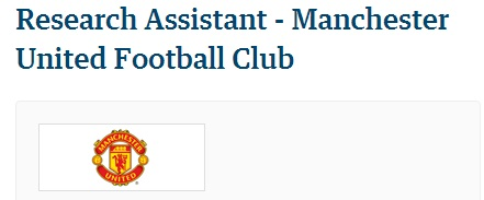 Man Utd Research assistant top