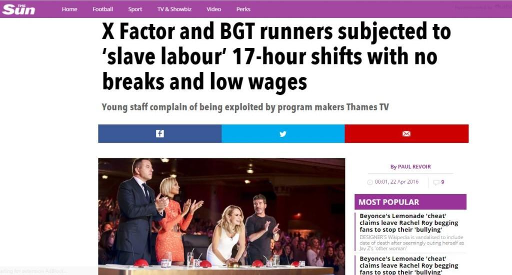 BRITAIN'S GOT (LOW-PAID) TALENT: How the Sun covered the story