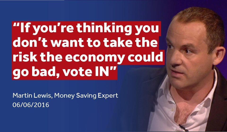 Student finance campaigner Martin Lewis is also backing the Remain campaign