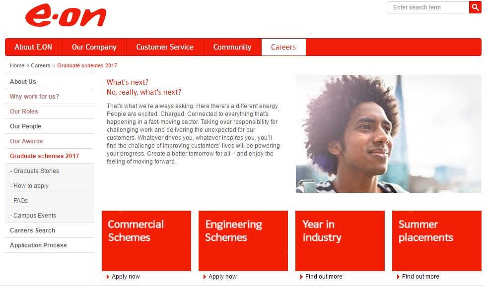 The Eon graduate scheme is open now