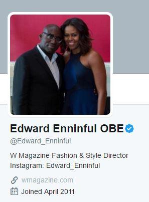 LOW-KEY: Enninful had not yet updated his Twitter bio with his new job title