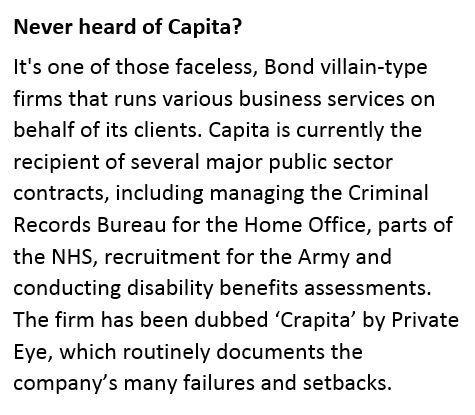 Never heard of Capita 3