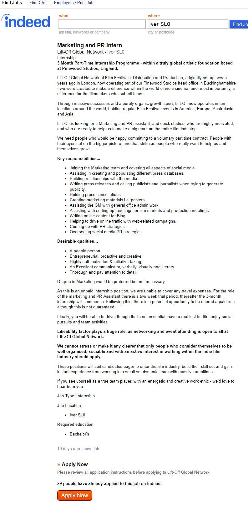 how to get a job at pinewood studios